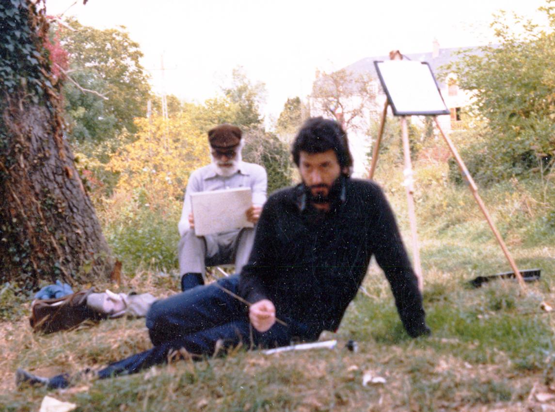 03-El pintor F. Lloveras y Cruañas en Argenton (Francia)  1976 .jpg