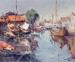 Spakenburg, Holanda, oil on canvas