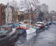 Amsterdam - barcas en reposo